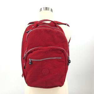 Kipling Challenger Red Full Backpack Nylon Laptop